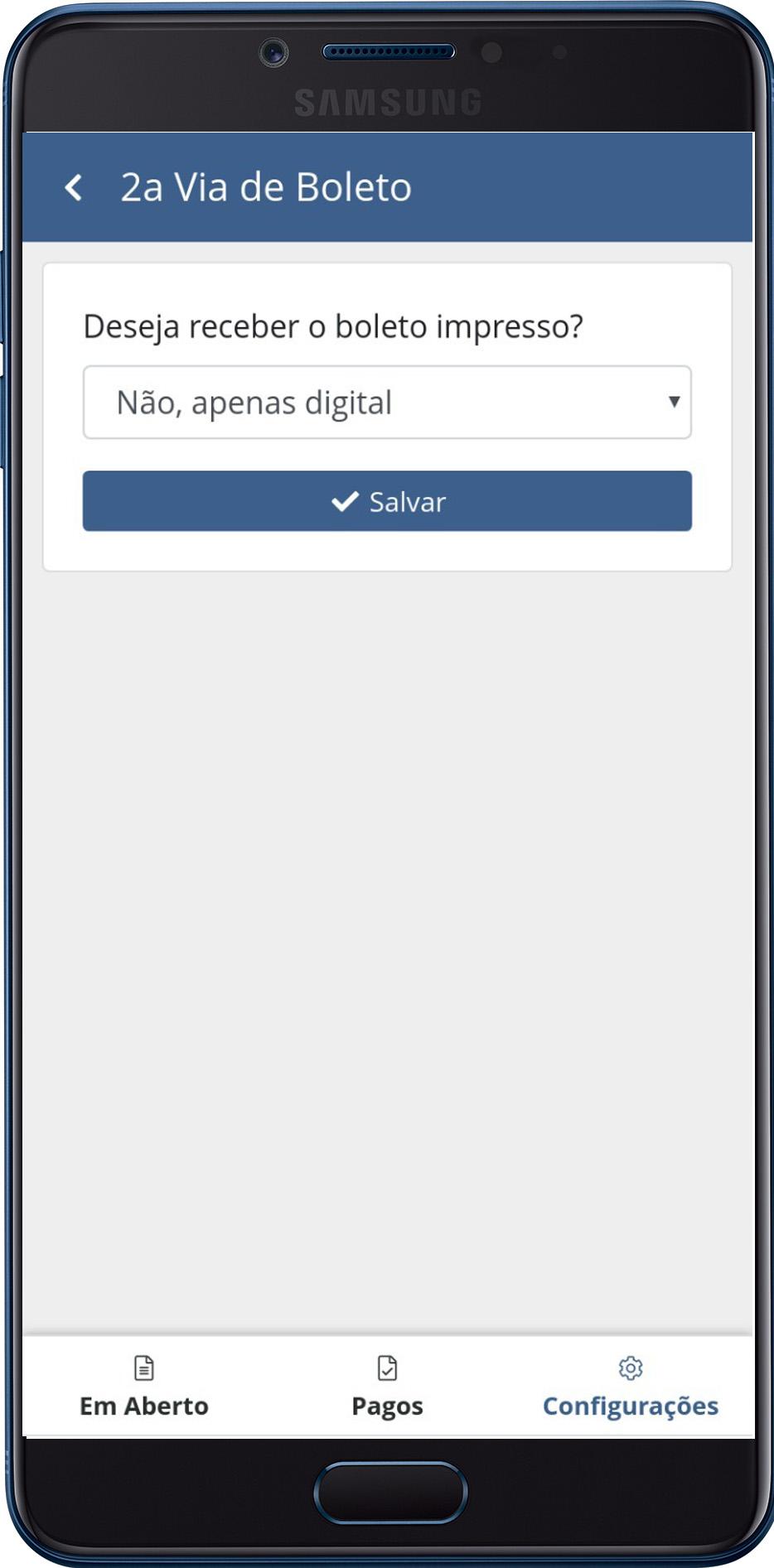 O morador no aplicativo vai poder escolher: